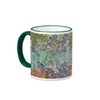 Irises by Vincent van Gogh Vintage Garden Flowers Mug