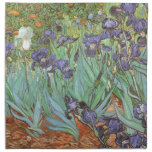 Irises by Vincent van Gogh, Vintage Impressionism Printed Napkin