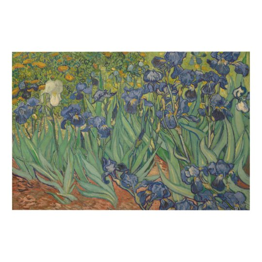Irises by Vincent van Gogh Wood Print