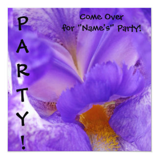 Irises Come to the Party! invitations cards Flower