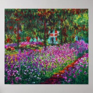 Irises in Monet s Garden Print