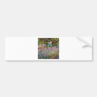 Irises In Monet's Garden Car Bumper Sticker