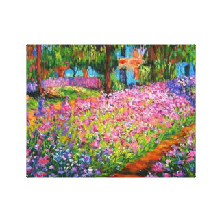 Irises in Monet's Garden Canvas Stretched Canvas Print