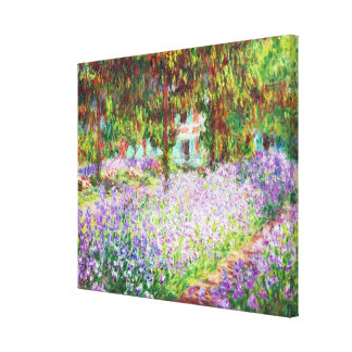 Irises in Monet's Garden Claude Monet Canvas Print