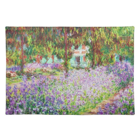 Irises in Monet's Garden Claude Monet Place Mat
