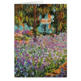 Irises In Monet's Garden Greeting Card