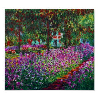 Irises in Monet's Garden Poster