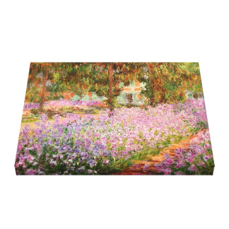 Irises in the Garden by Monet Stretched Canvas Prints