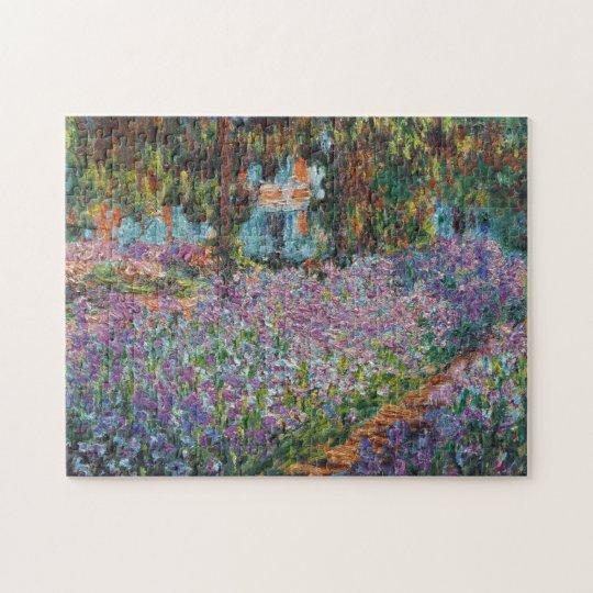 Irises in the Garden Monet Fine Art Jigsaw