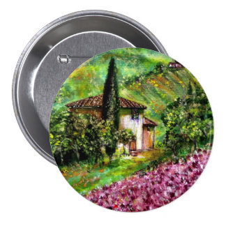 IRISES IN TUSCANY 7.5 CM ROUND BADGE