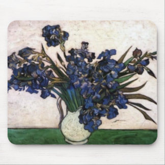 Irises in Vase by Vincent Van Gogh Mouse Pads