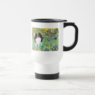 Irises - Japanese Chin 3 Stainless Steel Travel Mug