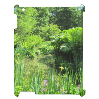 Irises & Primulas by Pond Richmond Park iPad Case