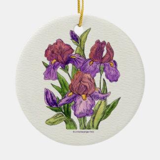 Irises Round Ceramic Decoration