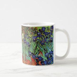 Irises, Saint-Remy, Van Gogh Basic White Mug