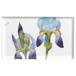 Irises Table Card Holder