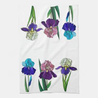 Irises Tea Towel
