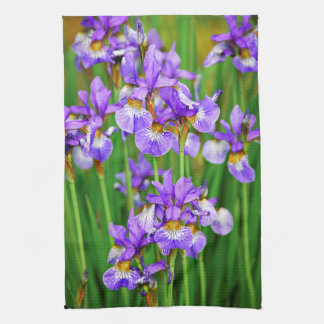 Irises Tea Towel