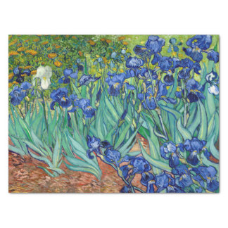 Irises Vincent van Gogh Flowers Fine Art Painting Tissue Paper