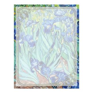 Irises, Vincent van Gogh. Flyer Design