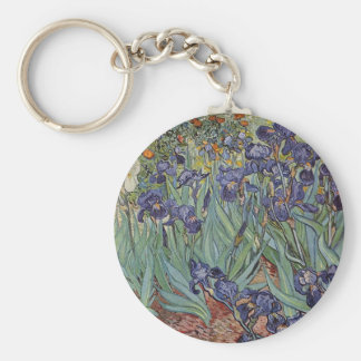 Irises - Vincent Willem van Gogh Basic Round Button Key Ring