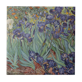 Irises - Vincent Willem van Gogh Small Square Tile