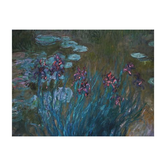Irises & Water Lilies Canvas Print