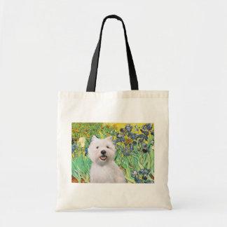 Irises - Westie 2 Tote Bags