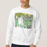 Irises - White cat Sweatshirt