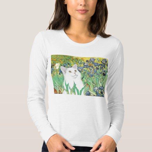 Irises - White cat T-Shirt