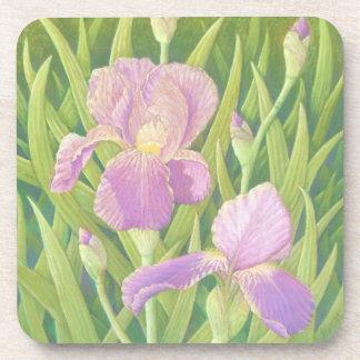 Irises, Wisley Gardens Hard Plastic Coasters