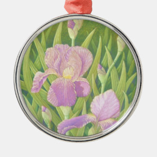 Irises, Wisley Gardens Premium Round Ornament