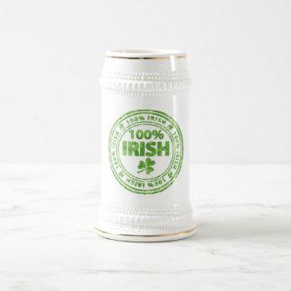 irish 100% beer stein
