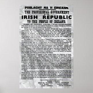 Irish 1916 Easter Rising Proclamation Poster