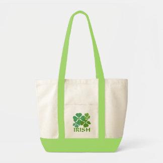 Irish 4-Leaf Clover Canvas Bags