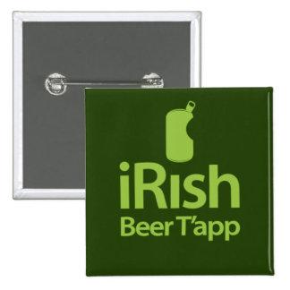 iRish 4 Mac Beer T'app Pinback Button