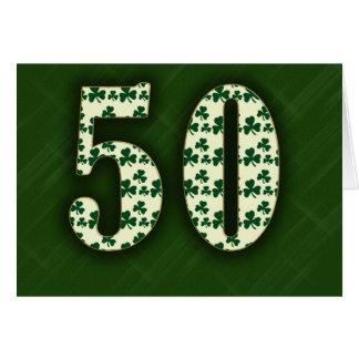 Irish 50th greeting card