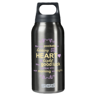 Irish Abundance Happiness and Good Luck Blessing Insulated Water Bottle
