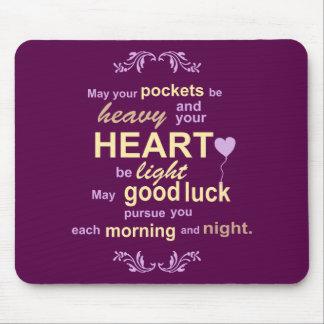 Irish Abundance Happiness and Good Luck Blessing Mouse Mat