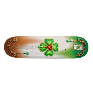 """IRISH ACE"" SKATE BOARD DECK"