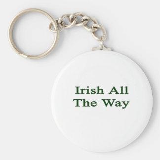 Irish All The Way Basic Round Button Key Ring