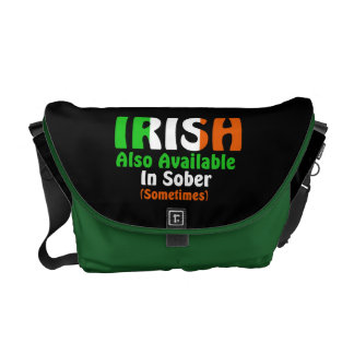 Irish Also Available In Sober Messenger Bag
