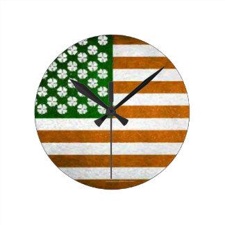 Irish American 015 Round Clock