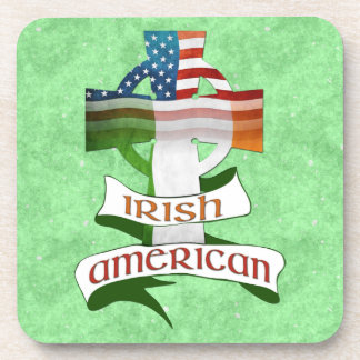 Irish American Celtic Cross Cork Coasters