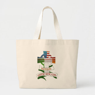 Irish American Celtic Cross Jumbo Tote Bag