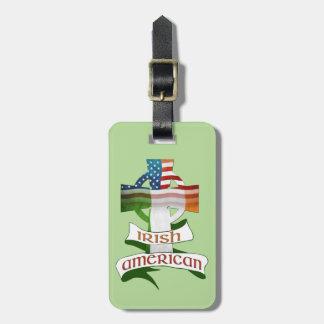 Irish American Cross Luggage Tag Template