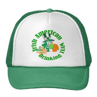Irish american drinking team trucker hat