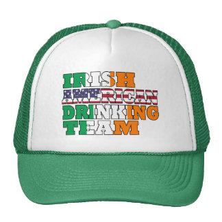 Irish American drinking team Hats