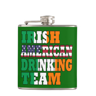 Irish American drinking team Hip Flask