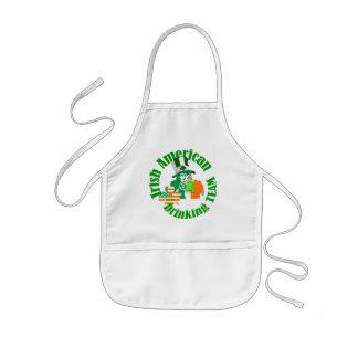 Irish american drinking team kids apron